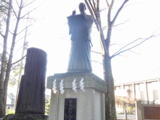合格祈願 山縣神社 山県大弐の像