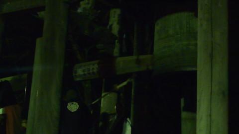 除夜の鐘 久遠寺 瞬間