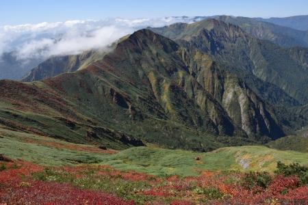 15万太郎山への尾根