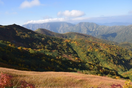 65朝日岳への尾根から
