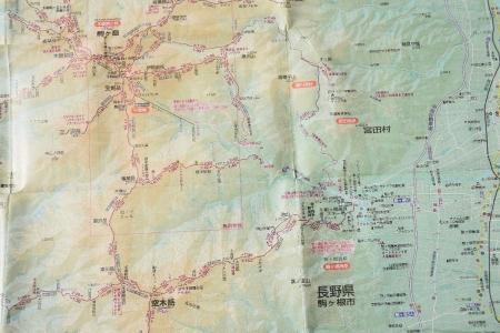 空木岳マップ