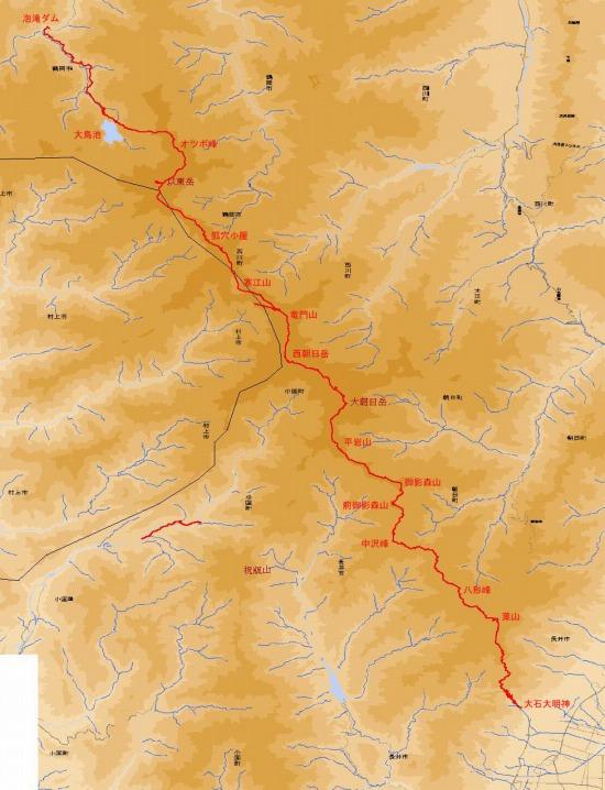 朝日軍道地図