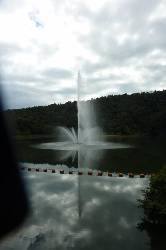 十王ダム噴水