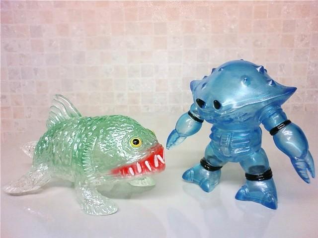 クリヤーカニロボ&深海魚