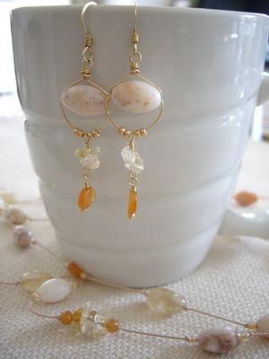 fall color earrings
