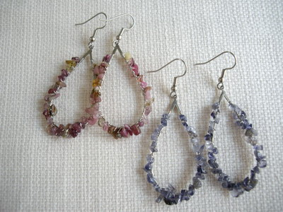 hoop wrap earrings