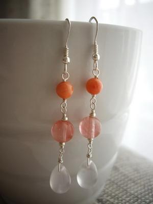 mix stones earrings