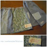 ゆるパンツ&パッチスカート。