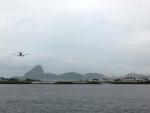 サントス・ドゥモン空港への着陸の光景