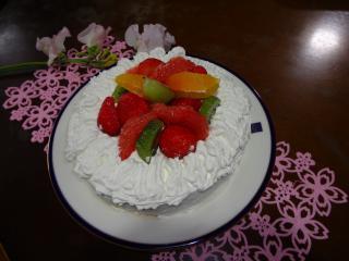 ケーキ右上