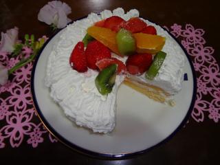 ケーキカット上