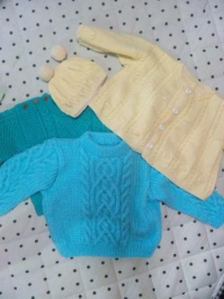3枚の編み物