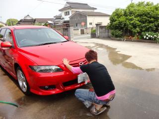 翔太車洗う2