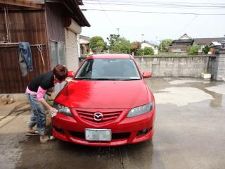 翔太車洗う1