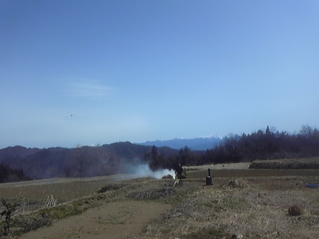 山がきれいに見えました1