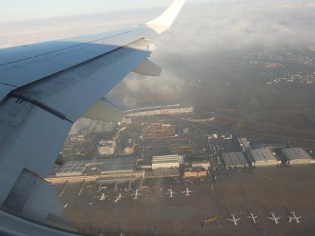 シュトゥットガルト空港上空