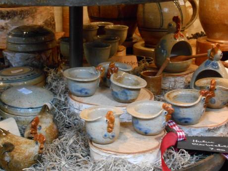 ニワトリの陶器