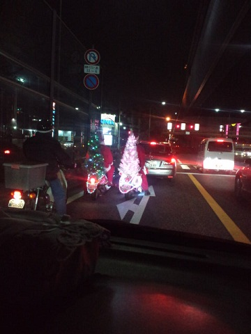 クリスマスバイク?