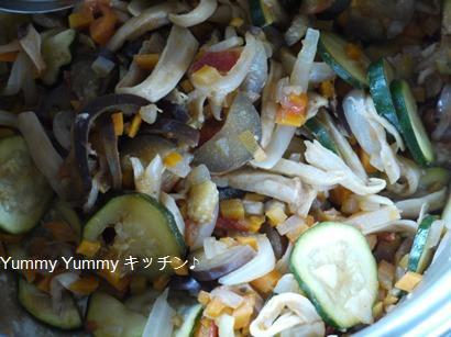 野菜を細かくカットしたラタトウユ