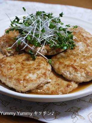 豆腐と鶏ミンチのヘルシー和風ハンバーグ♪