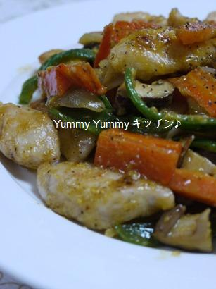 具だくさん野菜と鶏胸肉のカルボナーラ♪