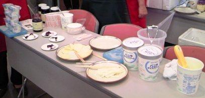 生活クラブ大試食会ヨーグルトアイスクリーム