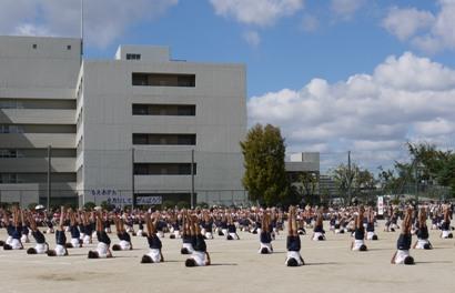 2010運動会息子 組み体操ー1