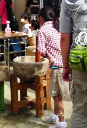 児童センターでのお祭り 餅つきブログ用