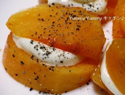 柿のクリーミー☆チーズサンド♪