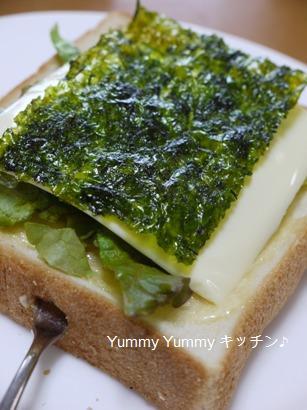 海苔チーズサラダパン☆