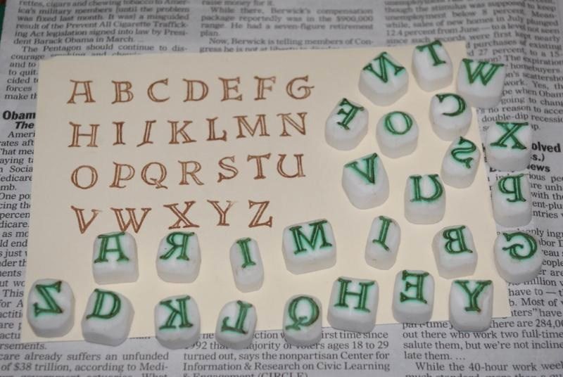 アルファベットはんこ♪