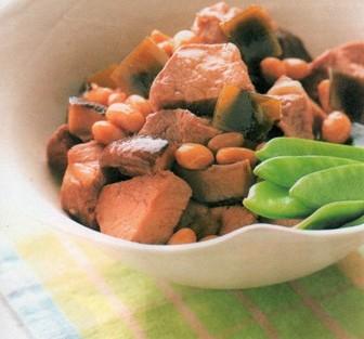 おかず(豚肉と大豆の煮物&昆布と椎茸の佃煮風 )1
