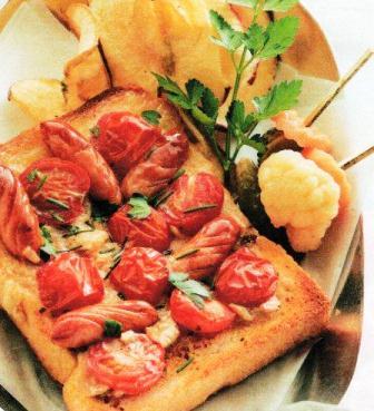 パン(プチトマト&チーズのせトースト)