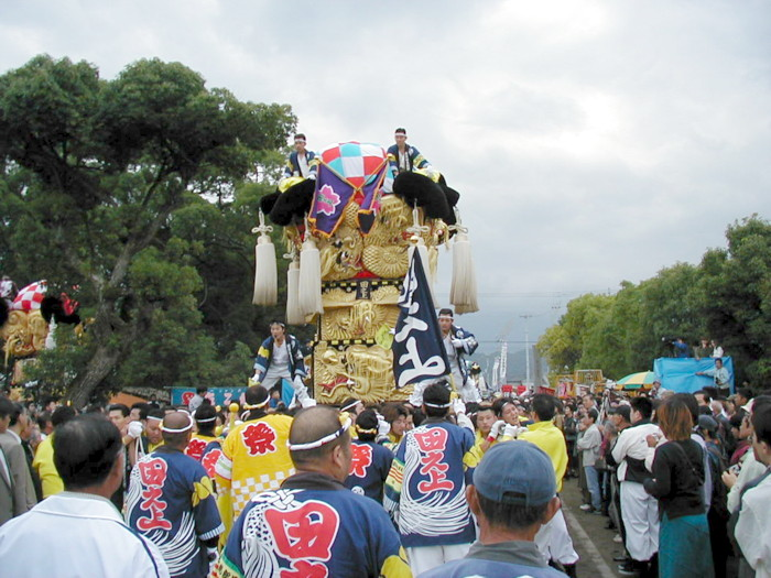 八幡神社の田之上太鼓台