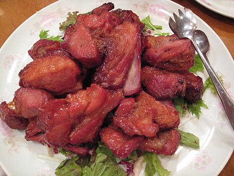 2豚スペアリブの炭火焼チャーシュー
