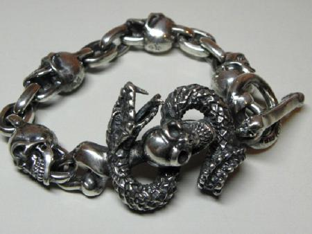 Gabor,Skull on snake,Bracelet