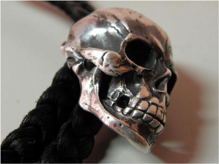gabor,large skull,loop tie