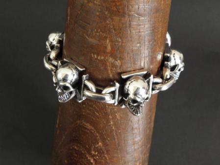 Gaboratory,Skull,Iron Cross,Bracelet