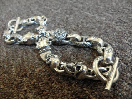 Gabor,LoganRiese,Silver,Leather,Bracelet