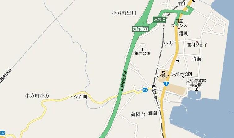大竹市小向方村