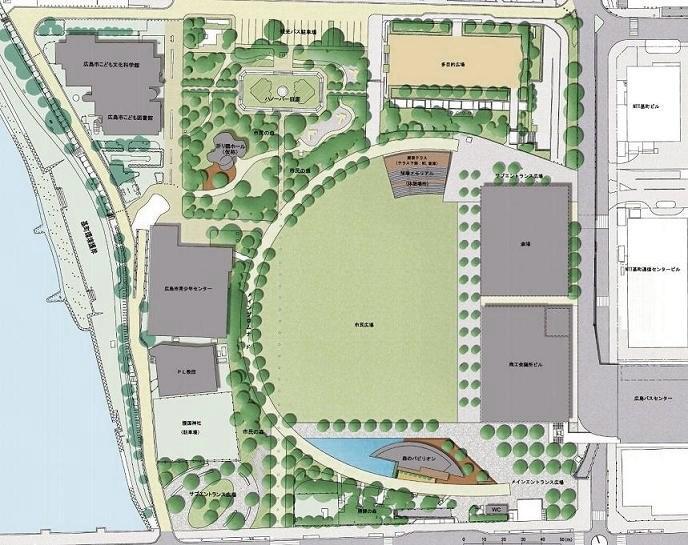 旧広島市民球場跡地計画図2