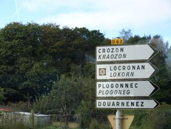 2ヶ国語併記の道路標識