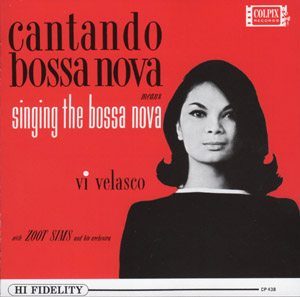Vi Velasco catando bossa nova means singing the bossa nova