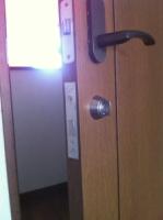 室内ドア 鍵取付け 後