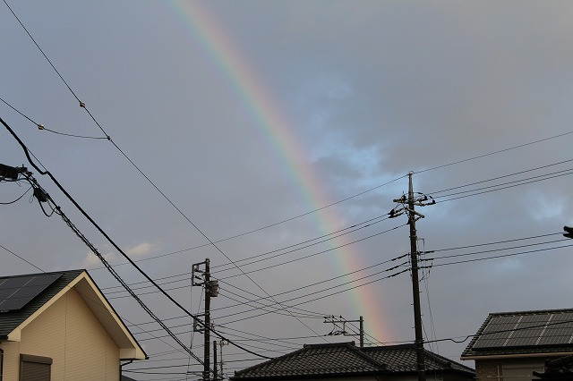 12月10日 朝の虹