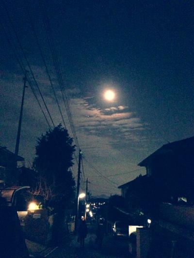 過ぎてしまった満月。