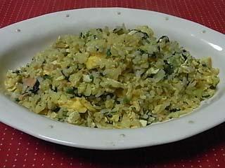 青菜鮭チャーハン1