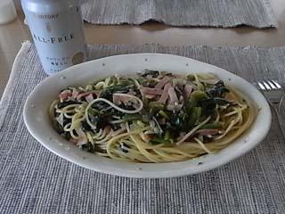 青菜ベーコンスパ1