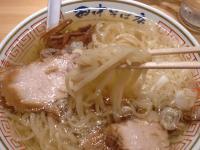 田中そば店@末広町・冷やし・麺上げ
