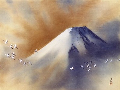 横山大観の富士 霊峰飛鶴